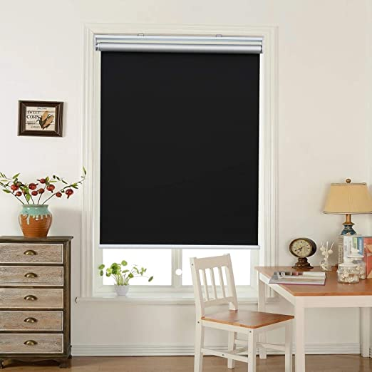 Amazon.com: HOMEDEMO Window Blinds and Shades Blackout Roller .