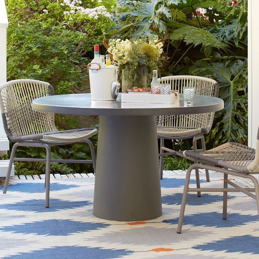 Quarry Round Dining Collection | Patio dining set, Round outdoor .