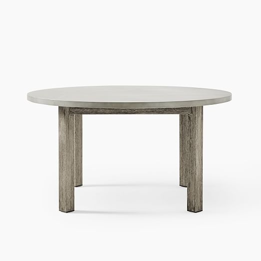 Concrete Outdoor Round Dining Table (60
