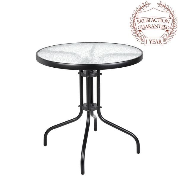 Shop Porthos Home Tempered Glass and Round Bistro Style Small .
