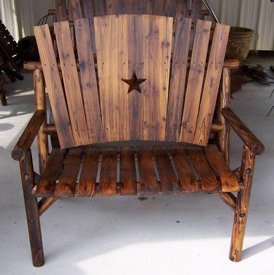 Rustic Western patio furniture | Rustic patio furniture, Western .