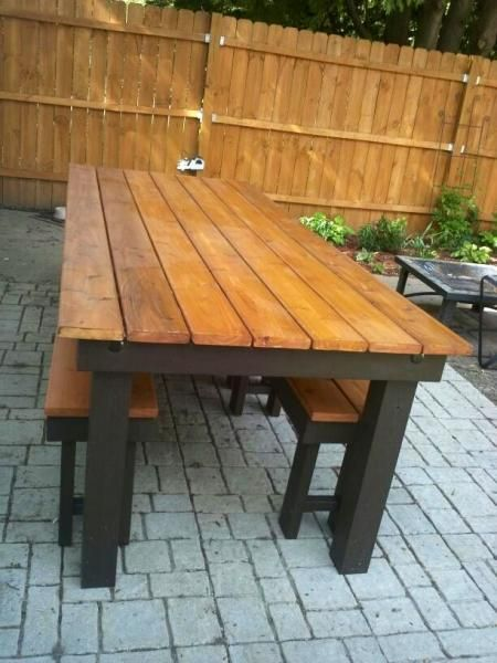 Pin by Ana White on Outdoor Builds   Outdoor patio table, Rustic .