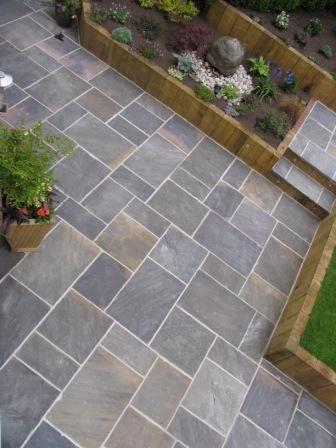 GALAXY NATURAL SANDSTONE PAVING | Patio garden design, Backyard .