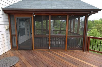 Deck Designs with a Screened Porch | St. Louis decks, screened .