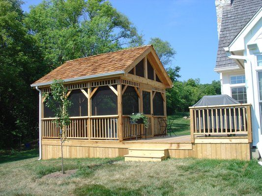 Screened in Decks | Deck and Detached Screened Room/ Gazebo | Yelp .