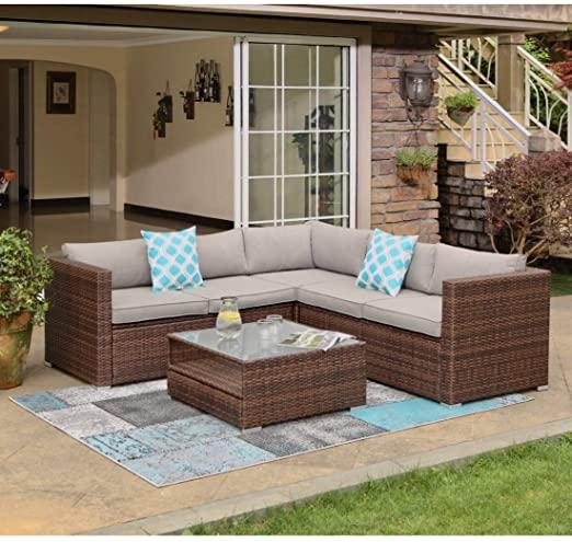 Amazon.com: COSIEST 4-Piece Outdoor Furniture Set All-Weather .