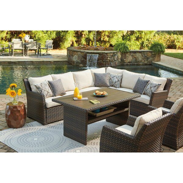 Lovejoy Patio Sectional with Cushions in 2020 | Patio furniture .