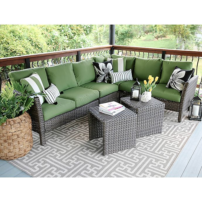 Leisure Made Canton 6-Piece Sectional Patio Furniture Set | Bed .
