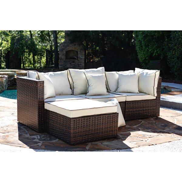 Burruss Patio Sectional with Cushions & Reviews | Joss & Ma