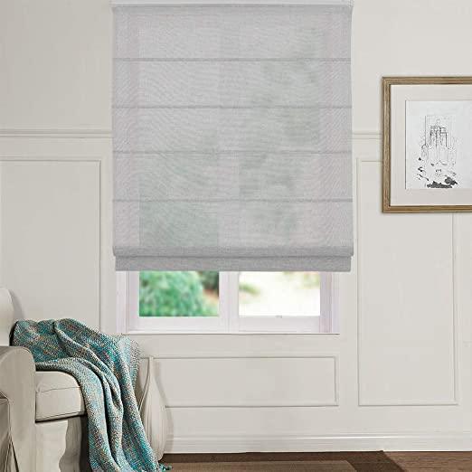 Amazon.com: Artdix Roman Shades Blinds Window Shades - Grey 20 W x .