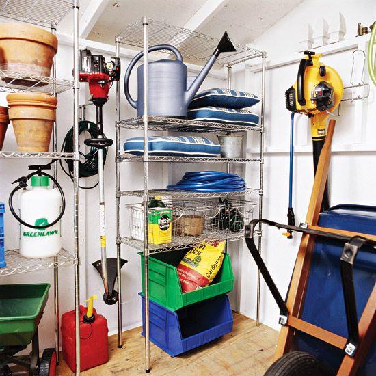 46 Practical Garden Shed Storage Ideas - DigsDi