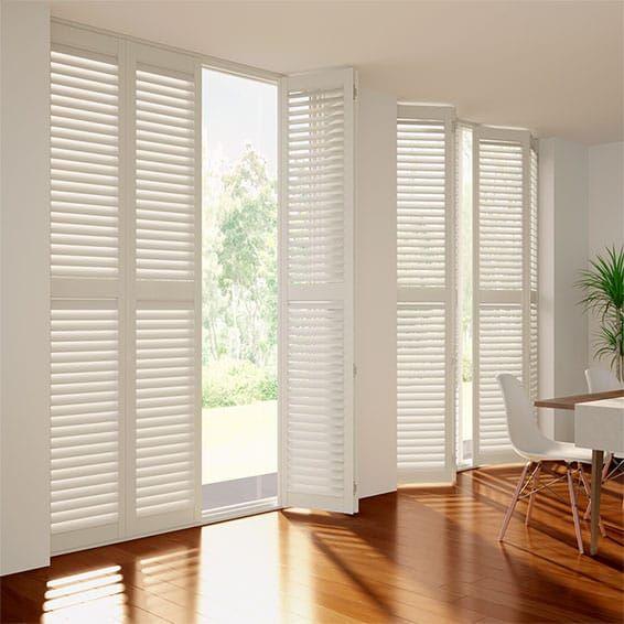 San Jose Premium Medici Ivory Shutter Blinds | White shutters .