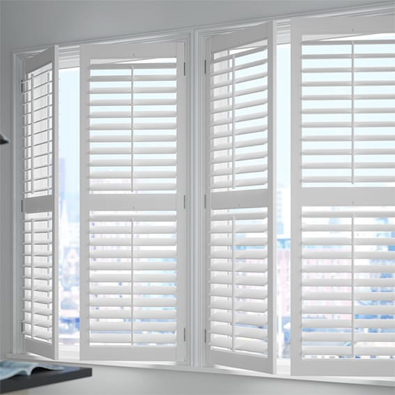 White Shutter Blinds, PVC Waterproof Shutter Blinds by W