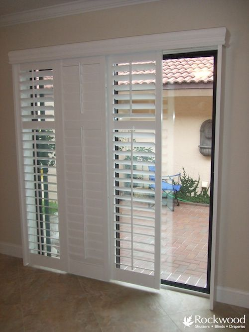 Sliding and French Door Shutters | Sliding glass doors patio .