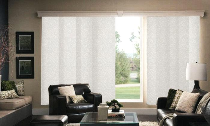 Muse Roller Shade Material Sliding Panels from Bali Shades and Blin