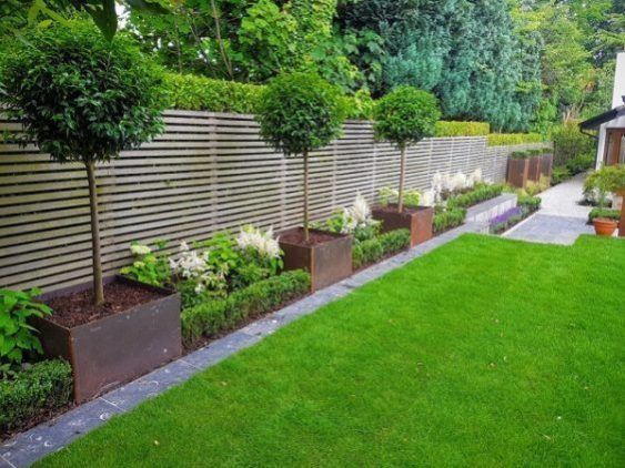 Back garden design - 25+ Most Beautiful Fence Landscaping Ideas to .