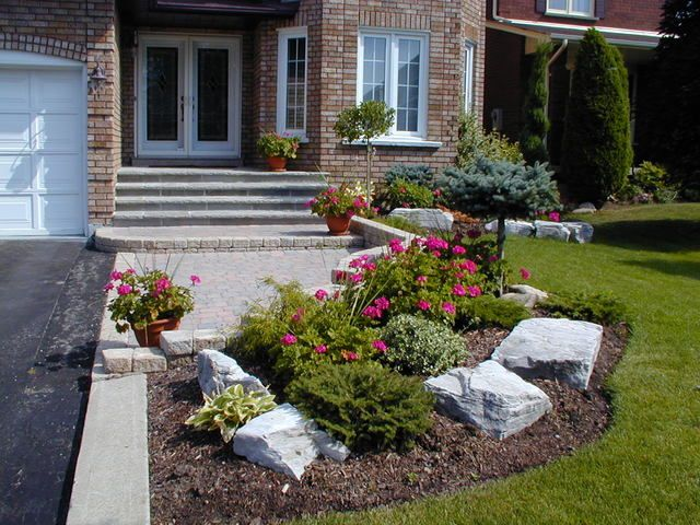 Front Yard idea - pavers and curvy grass   Small front yard .