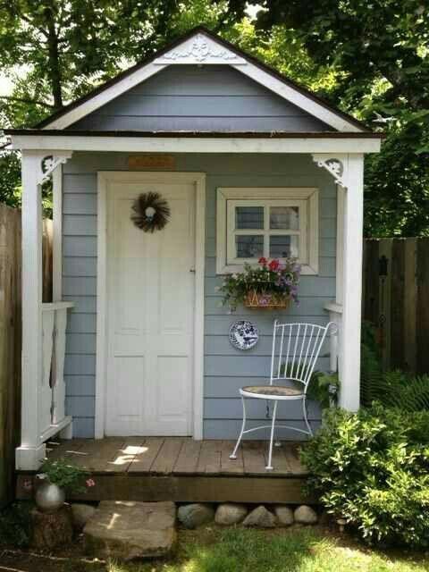 Cute gardening shed | Cottage garden sheds, Backyard sheds, Shed .