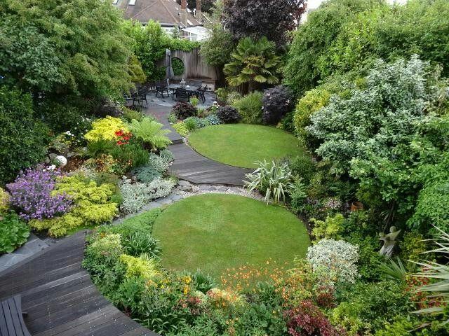 Pin by sarah c on Garden | Small gardens, Circular garden design .
