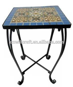 Mosaic Top Small Outdoor Coffee Tab