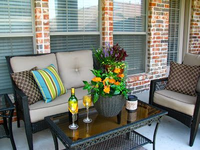 MAY DAYS: A Small Patio Makeover | Patio furniture layout, Small .