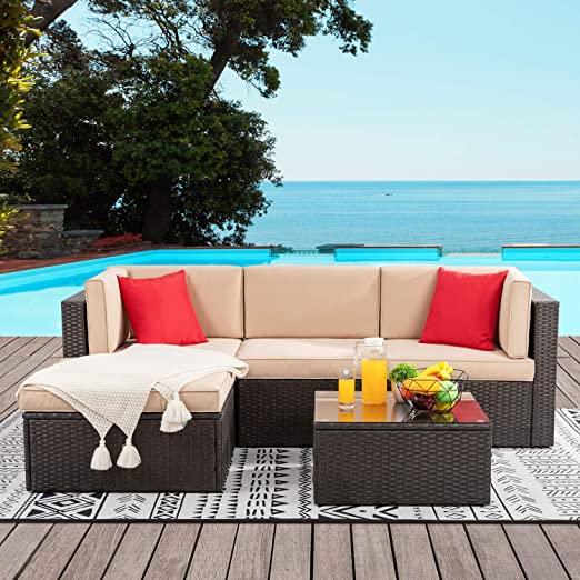 Amazon.com: Vongrasig 5 Pieces Small Patio Furniture Sets, Outdoor .