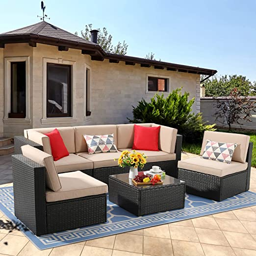 Amazon.com: Vongrasig 6 Piece Small Patio Furniture Sets, Outdoor .