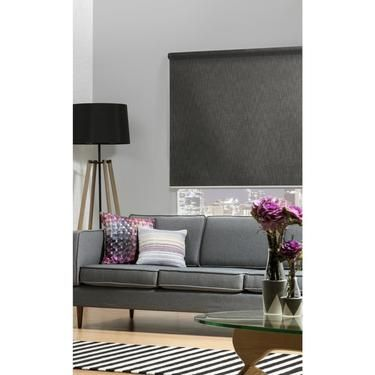 Spotlight - Wilson Fabrics Albion Roller Blind Charcoal 60 x 210 .