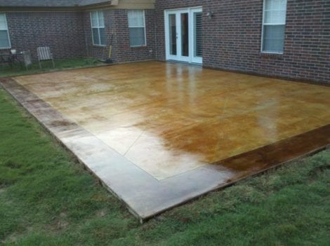 How To Acid Stain a Concrete Patio | Direct Colors DIY Ho