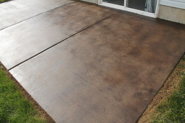 How To Stain A Concrete Patio | Concrete stain patio, Patio stain .