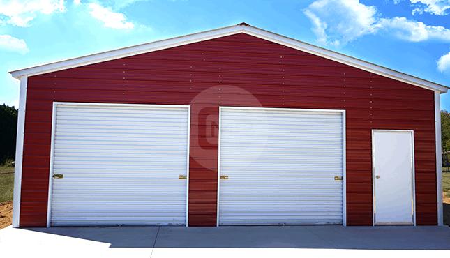 30x31 Vertical Roof Garage | 30x31 Steel Garage Pric