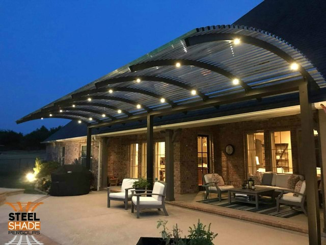 Steel Shade Pergolas provide a shade covering for your patio or .