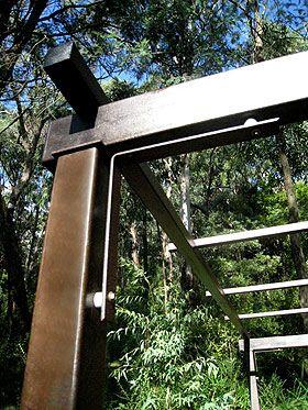 Beautiful rusted metal finish on designer metal decorative gardens .
