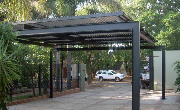 simple pergola over a driveway - Google Search | Carport designs .