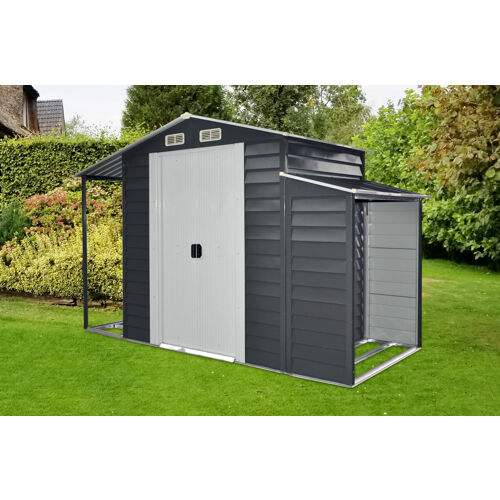 Hanover 3-In-1 Galvanized Steel Multi-Use Shed with Separa