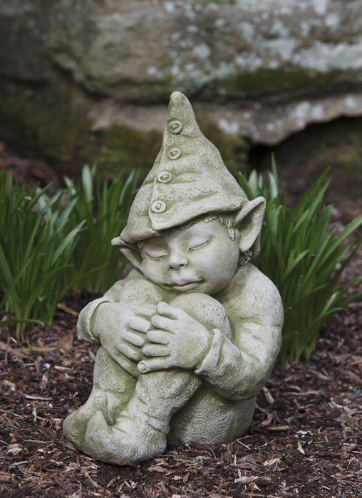 Galen, pixie garden statue | Garden statues, Stone garden statues .