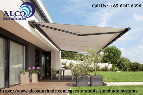 Extendable Sun Shade System In Singapore | Alco Sunshade | Patio .