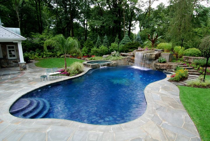 Pin by Homesthetics.net on pool | Swimming pool landscaping .