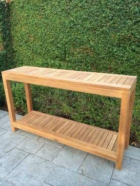 Outdoor Teak Console - Mecox Gardens | Teak outdoor, Teak, Outdo