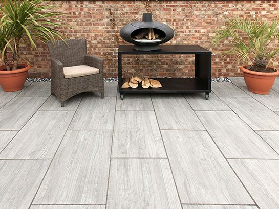 Wood grain effect Porcelain Paving from Rowebb | Patio tiles .