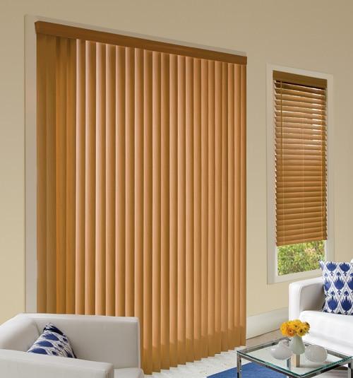 Levolor Visions Faux Wood Vertical Blinds - Vertical Blinds .