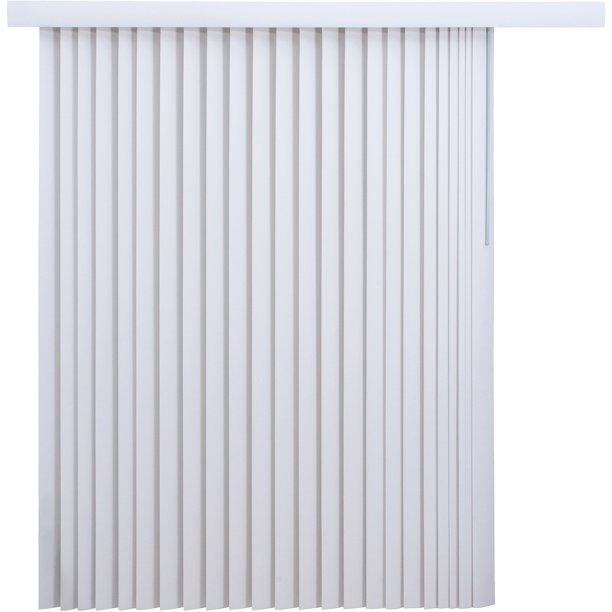 "Mainstays Light-Filtering Vertical Blinds 78"" x 84"", White ."