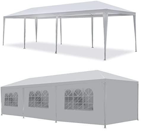 Amazon.com : ZenStyle 10' x 30' White Outdoor Gazebo Canopy Tent .