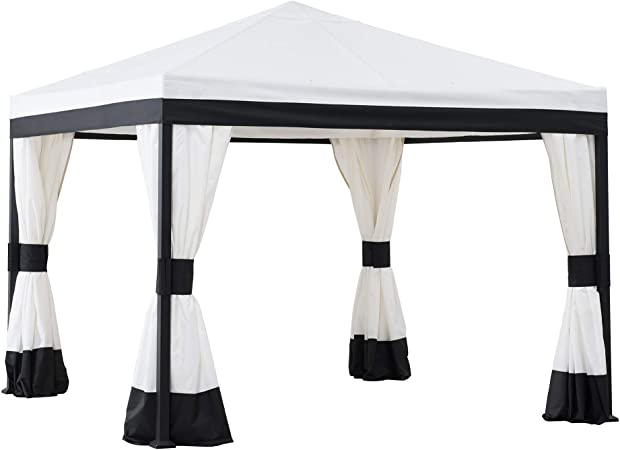 Amazon.com : Sunjoy A101011300 Marquis 10x10 ft. Steel Gazebo .