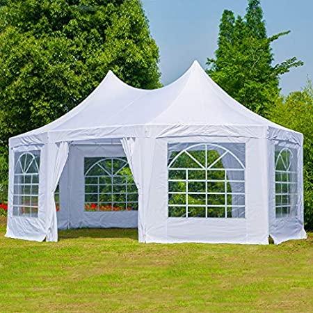 Amazon.com : Erommy 20x15ft Party Tent Gazebo Pavilion Adjustable .