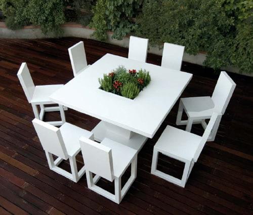 White Outdoor Furniture by Bysteel | Designer Hom