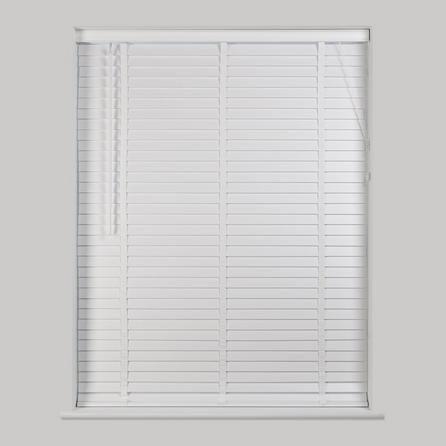 White Wooden Venetian Blind 50mm Slats | Drop cloth curtains .