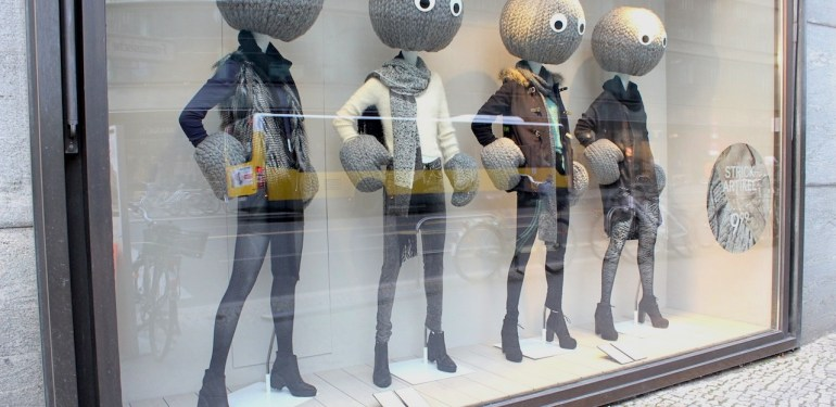 Window Dressing, the first physical contact with the consumer .