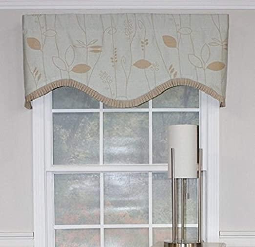 Amazon.com: RLF HOME Mist Aquarelles Cornice Window Dressings .