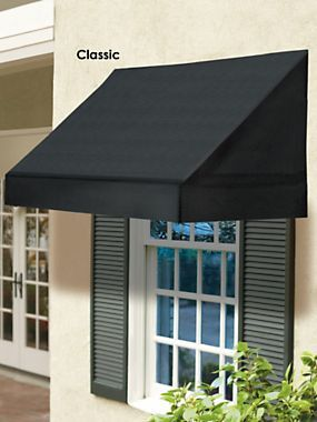 Window Awning Solid - Scalloped Edge Awnings - Straight Edge .